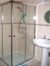 Shower room at Glenalla Lodge B&B, Rathmullan